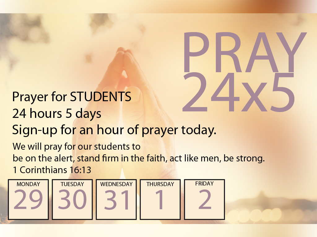 Prayer for studends 8-2016